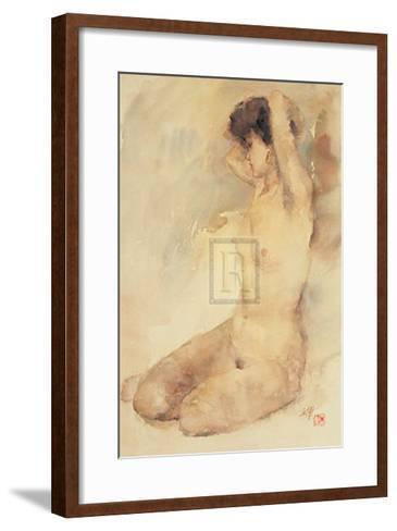 Bathing-L^ Yajun-Framed Art Print