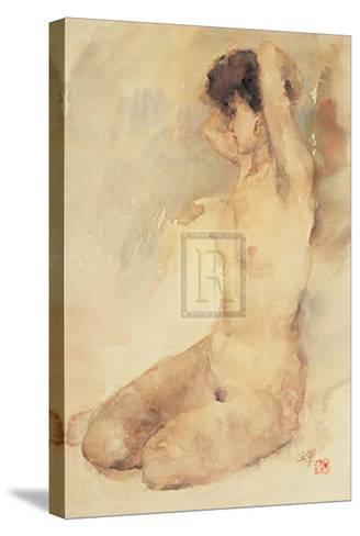 Bathing-L^ Yajun-Stretched Canvas Print