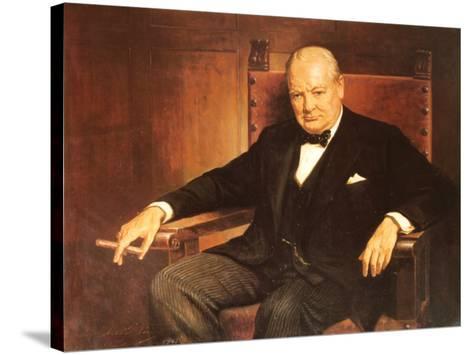 Sir Winston Churchill-Arthur Pan-Stretched Canvas Print
