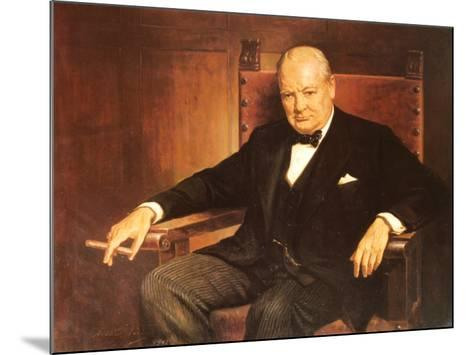 Sir Winston Churchill-Arthur Pan-Mounted Art Print