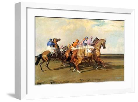 Under Starter's Orders-Alfred James Munnings-Framed Art Print
