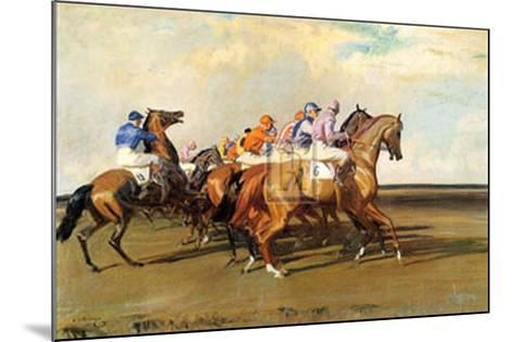 Under Starter's Orders-Alfred James Munnings-Mounted Art Print