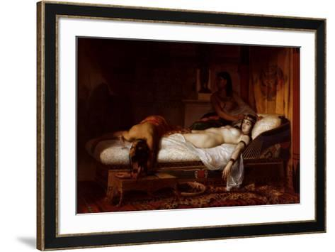 The Death of Cleopatra-Jean Andr? Rixens-Framed Art Print