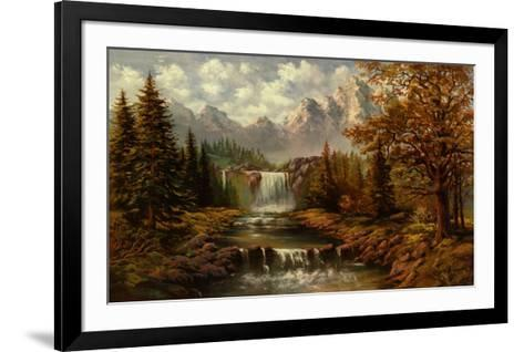 Waterfall II-Ada & Kris-Framed Art Print