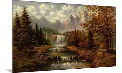 Waterfall II-Ada & Kris-Mounted Art Print