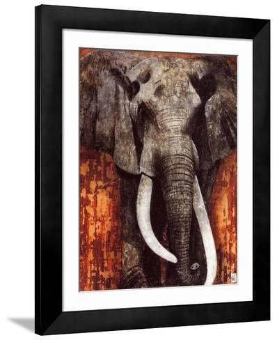 Elephant-Fabienne Arietti-Framed Art Print