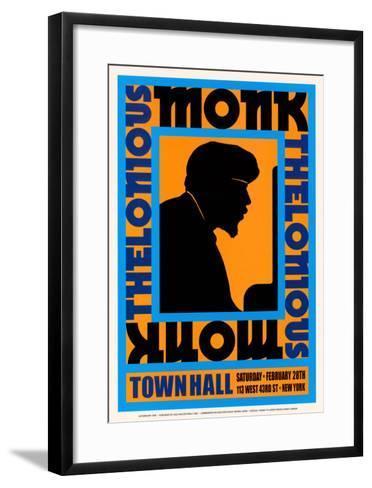 Thelonius Monk at Town Hall, New York City, 1959-Dennis Loren-Framed Art Print