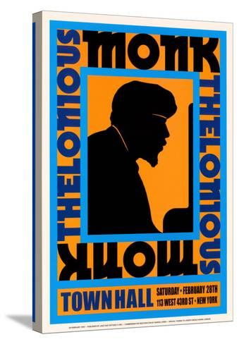 Thelonius Monk at Town Hall, New York City, 1959-Dennis Loren-Stretched Canvas Print