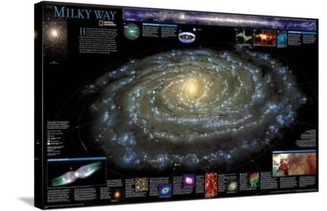 Milky Way Chart - ?Spaceshots--Stretched Canvas Print