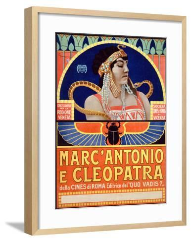 Marc Antonio e Cleopatra, Societa Cines--Framed Art Print