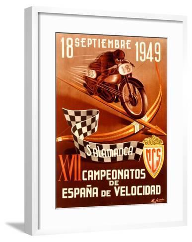 Salamanca Moto-Gracia-Framed Art Print