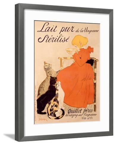 Lait Pur Sterilise Cats-Th?ophile Alexandre Steinlen-Framed Art Print