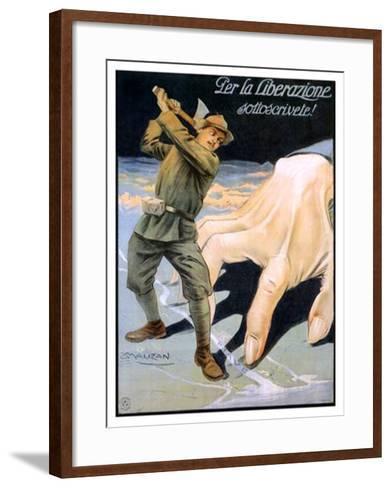 La Liberazione-Achille Luciano Mauzan-Framed Art Print