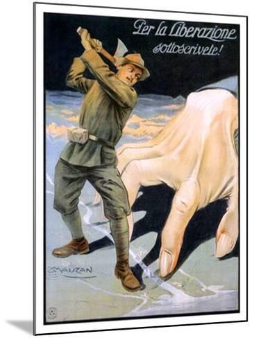 La Liberazione-Achille Luciano Mauzan-Mounted Giclee Print