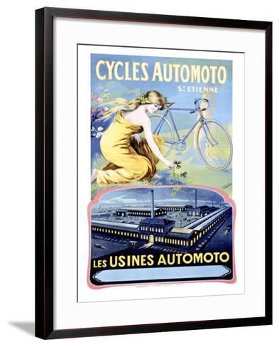 Cycles Automoto-Francisco Tamagno-Framed Art Print