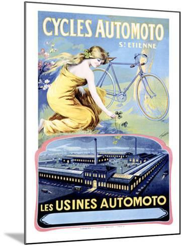 Cycles Automoto-Francisco Tamagno-Mounted Giclee Print