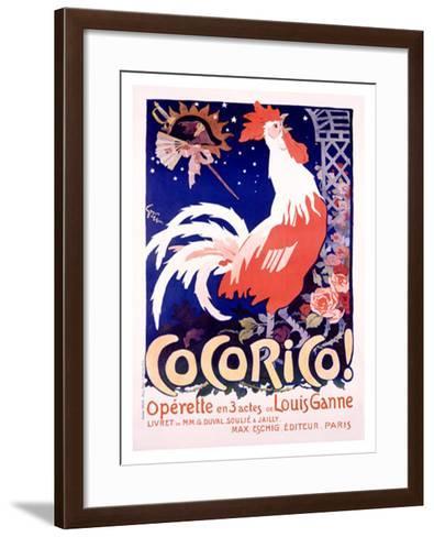 Cocorico-Jules-Alexandre Gr?n-Framed Art Print