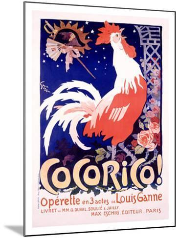 Cocorico-Jules-Alexandre Gr?n-Mounted Giclee Print