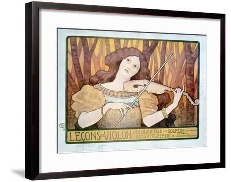 Lecons de Violin-Paul Berthon-Framed Art Print