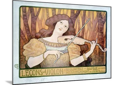 Lecons de Violin-Paul Berthon-Mounted Giclee Print