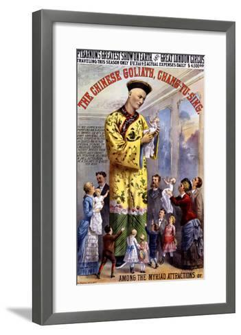 P.T. Barnum and the Great London Circus: The Chinese Goliath- Chang-Tu-Sing-Framed Art Print