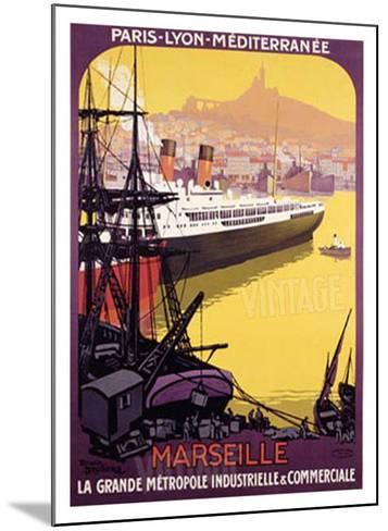Marseille, Metropole Industrielle-Roger Broders-Mounted Giclee Print