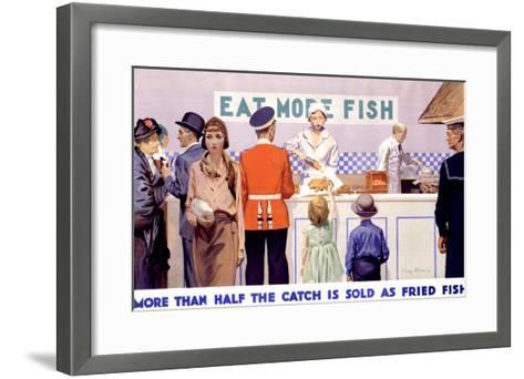 Eat More Fish-Charles Pears-Framed Art Print