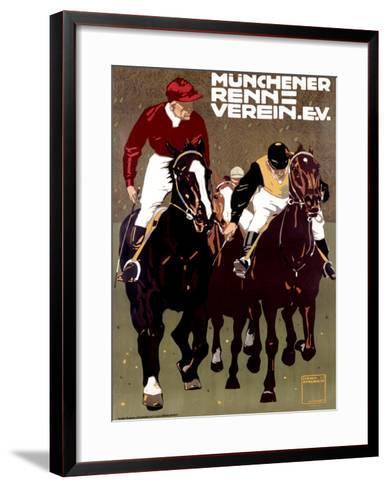 Munchener Renn Verein-Ludwig Hohlwein-Framed Art Print