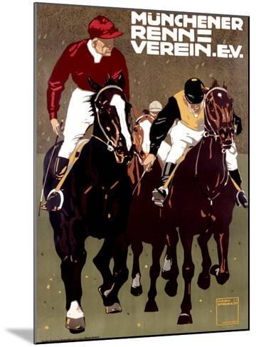Munchener Renn Verein-Ludwig Hohlwein-Mounted Giclee Print
