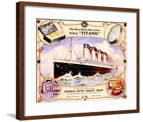 White Star Liner, The Titanic--Framed Art Print