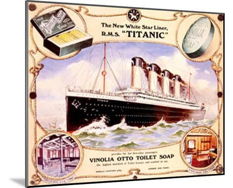White Star Liner, The Titanic--Mounted Giclee Print