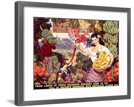 Bananas, From Lands of Tropical Splendor-Dean Cornwell-Framed Art Print