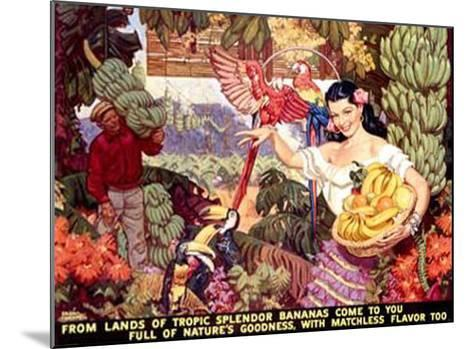 Bananas, From Lands of Tropical Splendor-Dean Cornwell-Mounted Giclee Print