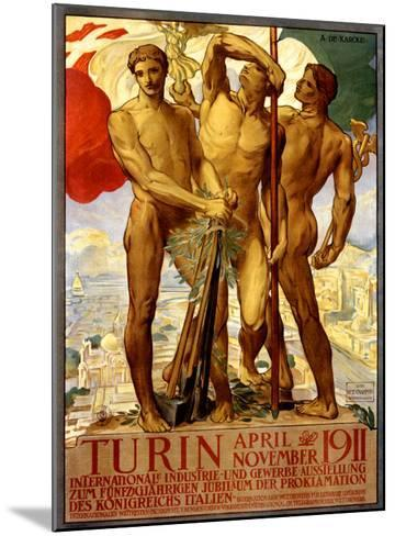Turin, 1911-Adolfo de Carolis-Mounted Giclee Print