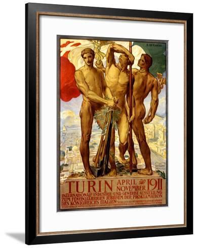 Turin, 1911-Adolfo de Carolis-Framed Art Print