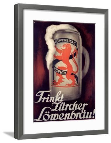 Lowenbrau-Otto Baumberger-Framed Art Print
