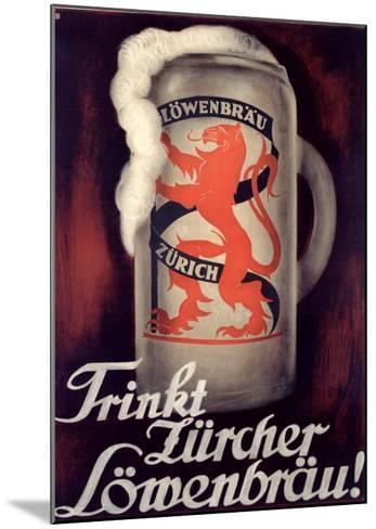 Lowenbrau-Otto Baumberger-Mounted Giclee Print