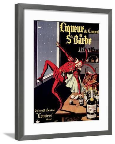 Liqueur Ste. Barbe- Conchon-Framed Art Print