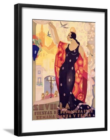 Sevilla, Fiestas Primavera-Juan Balcera de Fuentes-Framed Art Print