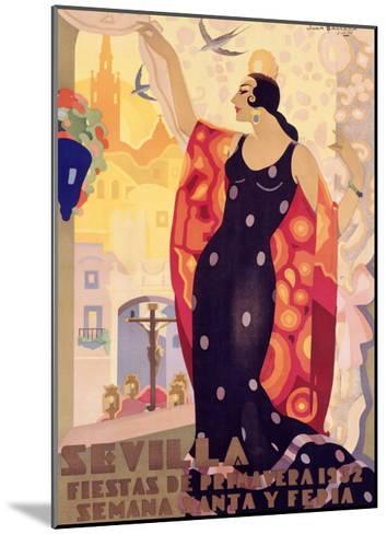 Sevilla, Fiestas Primavera-Juan Balcera de Fuentes-Mounted Giclee Print