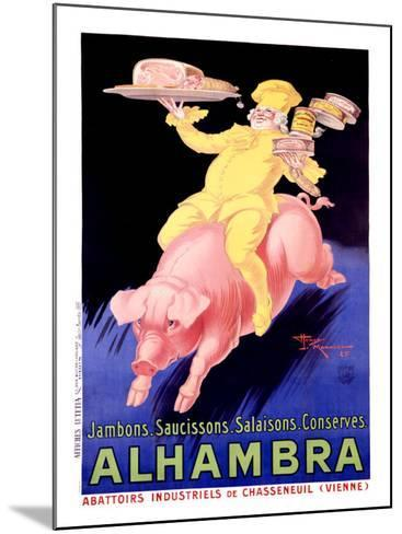Alhambra Pork Bacon Sausage-Henry Le Monnier-Mounted Giclee Print