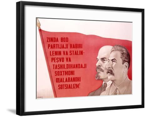 Russian Leaders--Framed Art Print