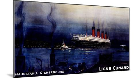 Cunard Line, Mauretania to Cherbourg-Kenneth Shoesmith-Mounted Giclee Print