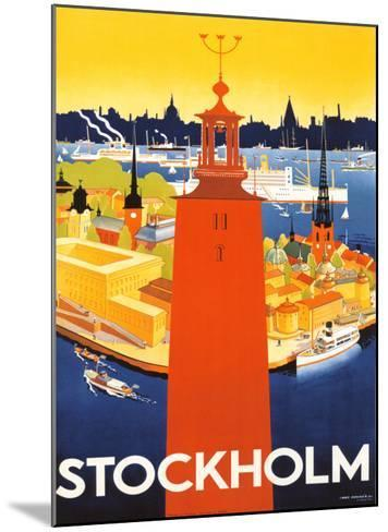 Stockholm-Donner-Mounted Giclee Print