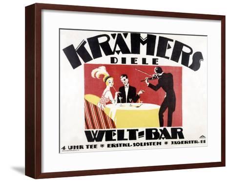 Kramer's Welt-Bar-Gerda Wegener-Framed Art Print