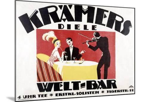 Kramer's Welt-Bar-Gerda Wegener-Mounted Giclee Print