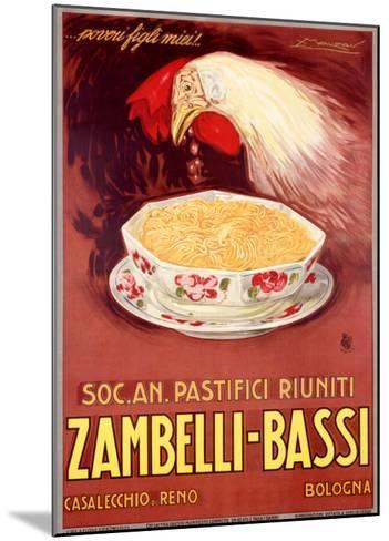 Zambelli-Bassi-Achille Luciano Mauzan-Mounted Giclee Print