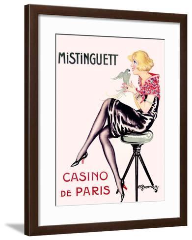 Mistinguett, Casino de Paris-Charles Gesmar-Framed Art Print