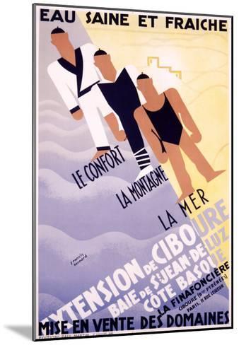 Extension de Ciboure-Francis Bernard-Mounted Giclee Print