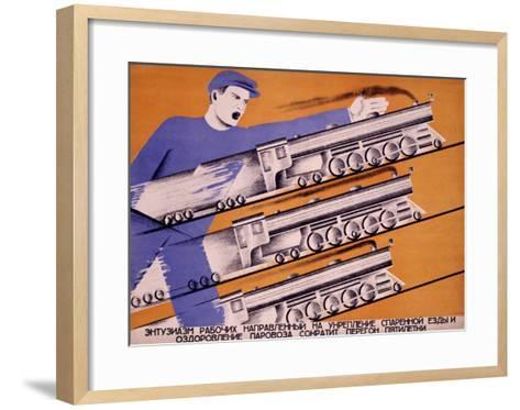 Workers Transportation-D. Bulanov-Framed Art Print